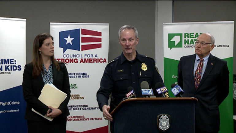 Chief Flynn, business leaders urge lawmakers to extend funding for parental home-visiting program